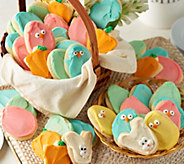 Cheryls 60 Piece Easter Buttercream Frosted Cutout Cookies - M54113