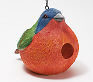 Painted Portley Birdhouse by Evergreen - M55813