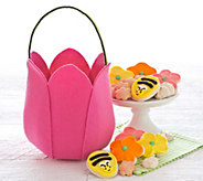 Cheryls Pink Felt Tulip Bag with Treats - M115214