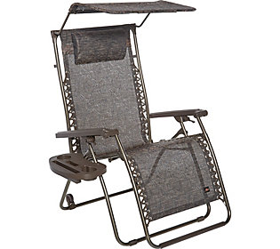 Bliss Hammocks XL Gravity Free Recliner with Canopy, Tray and Wheels