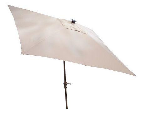 southern patio square market umbrella w solar lights page 1 qvc