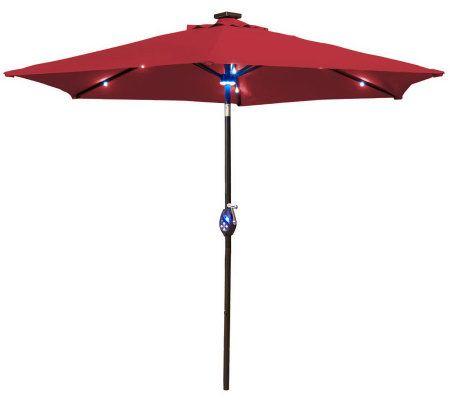 southern patio 9 39 solar crank tilt umbrella w mp3 speaker p