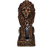 Solar Garden Lion Statue - M49615