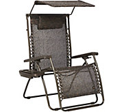 Bliss Hammocks XXL Gravity Free Recliner with Canopy and Tray - M52015