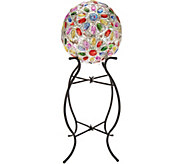 Plow & Hearth Solar Crystal Globe with Stand & Hanging Chain - M52415