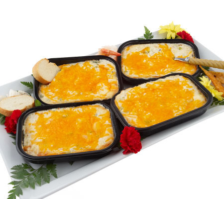 "Paula Deen's (4) 12oz. Trays of ""Shore is Good"" Seafood Dip"