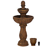 Bernini Siena Rechargeable Fountain with Color Changing Light & Remote - M45216