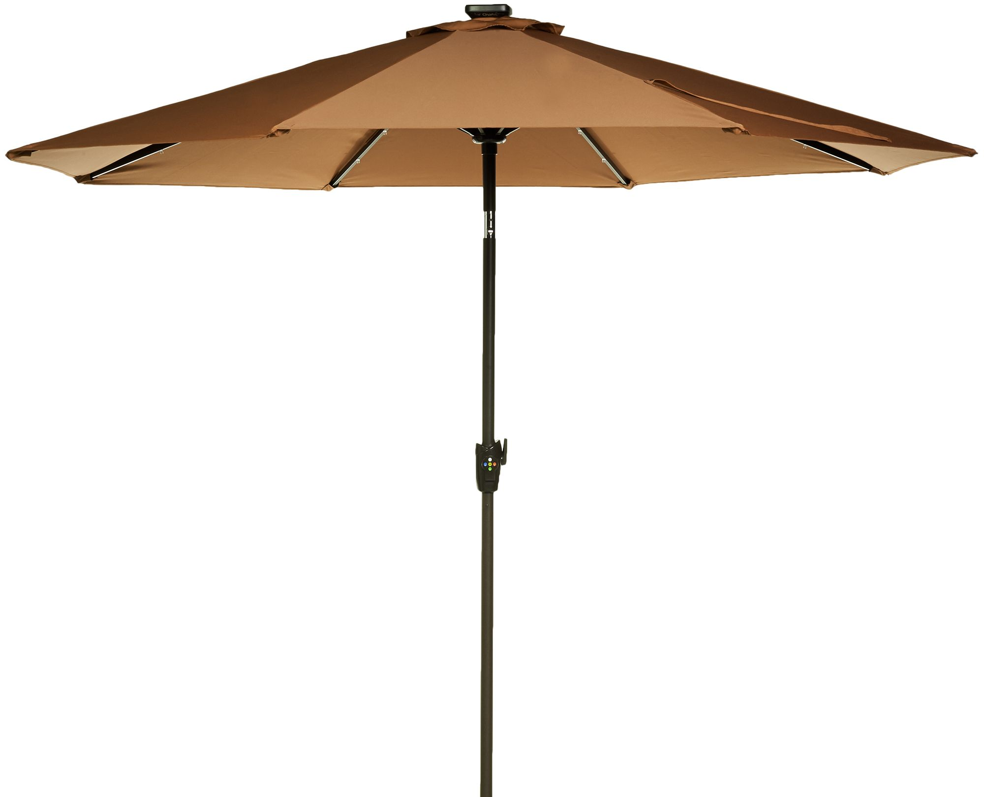 ATLeisure 9' Solar Patio Umbrella With White & Color