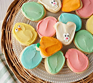 Cheryls 30 Piece Easter Buttercream Frosted Cutout Cookies - M57516