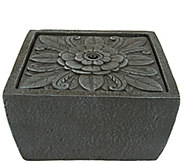 ED On Air Tavolo Floral Square Tabletop Fountain by Ellen DeGeneres - M48517