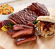 Corkys BBQ (2) 2lb Spare Ribs & 2 lbs Pulled Pork or Pulled Chicken - M49317