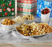 Ships 11/7 Popcorn Factory S/3 Gift Boxes w/ 7 Flavors of Popcorn Each - M52817