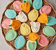 Cheryls 60 Piece Easter Buttercream Frosted Cutout Cookies - M57517