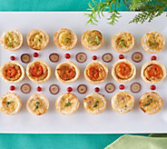 Valerie Bertinellis Very Best 60-Piece Mini Quiche Sampler - M58817