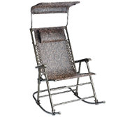 Bliss Hammocks Deluxe Foldable Rocking Chair with Sun Shade
