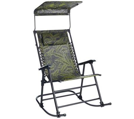 Bliss Hammocks Deluxe Foldable Rocking Chair With Sun
