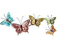 Plow & Hearth Watercolor Butterfly Wall Art - M48518