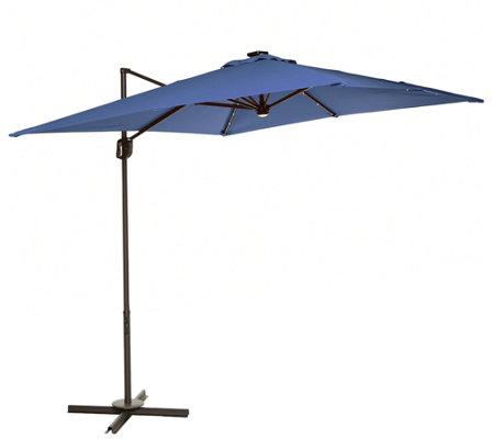 atleisure 8 5 square olefin solar offset patio umbrella