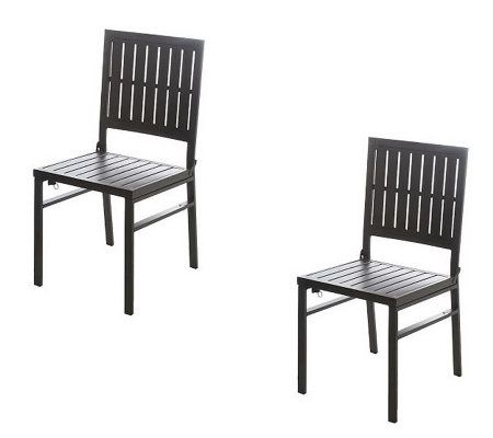 Smartfold Set Of 2 Outdoor Dining Chairs By Cosco
