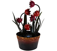 Tulip Electric Garden Fountain with Lights - M49519