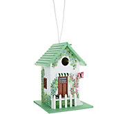 Plow & Hearth Handpainted Cottage Design Birdhouse - M52119