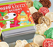 Ships 11/1 Cheryls Warm and Fuzzy Holiday Tin- 16 Cookies - M115920