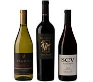 Sonoma Wineries 3-Bottle Sampler Set by VintageWine Estates - M117020