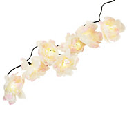 As Is 18 Floral Solar Light String Set by Smart Solar - M120120