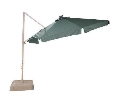 Southern Patio 10 Round fset Umbrella w 21 Solar