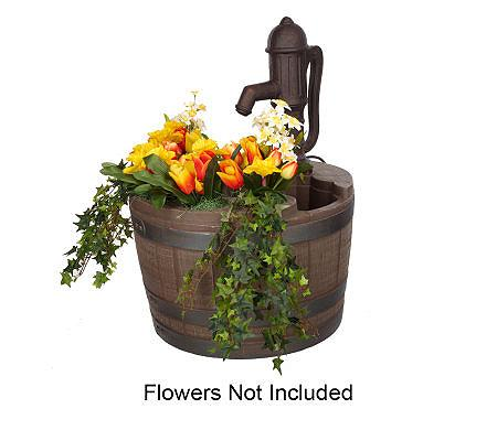 Indoor Outdoor Whiskey Barrel Planter Fountain