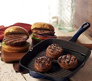 Product image of Kansas City (12) 5 oz. Top Sirloins, (12) 4 oz. Burgers & 4 Bonus Burgers