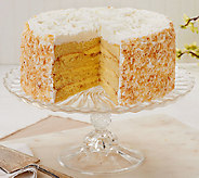 Sweet Endings 7 lb. Toasted Coconut 4-Layer Rose Cake - M47621