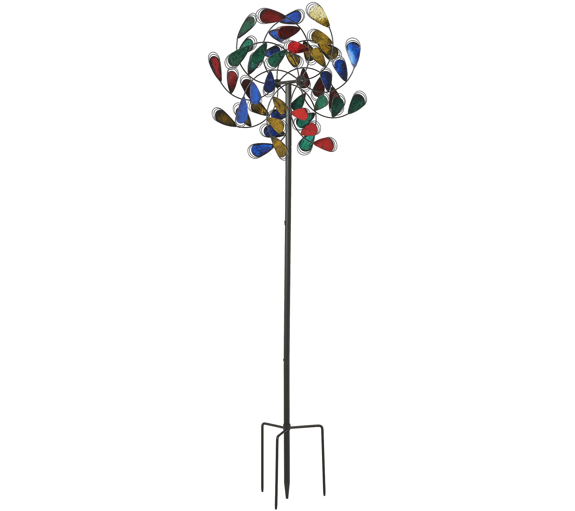 Plow hearth 6 foot feather garden spinner page 1 qvc amipublicfo Images