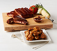 Corkys BBQ 4 lb. Ribs with Choice of Seasoned Wings Auto-Delivery - M54821