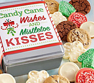 Ships 11/1 Cheryls Candy Cane Wishes Holiday Tin - 16 Cookies - M115922