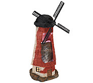 Compass Home Indoor/Outdoor Windmill Fountain with Lights & Motion - M42823