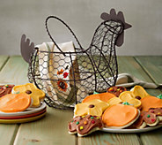 Cheryls Fall Wire Gathering Basket of cookies - M115524