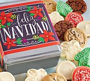 Ships 11/1 Cheryls Feliz Navidad Holiday Tin -16 Cookies - M115924