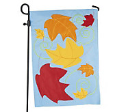 Fiber Optic Fall Garden Flag w/ 3-Pc. Flag Stand by Evergreen - M42024