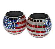 Paradise 2-Pc. Star Spangled Mosaic Solar Light Jar Set - M29925