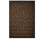 Veranda Living 5x7 Reversible Scroll Design Indoor/Outdoor Rug - M42825