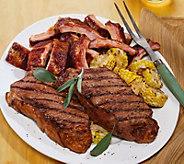 Kansas City (6) 10-oz Seasoned Kansas City Strip Steaks - M116026