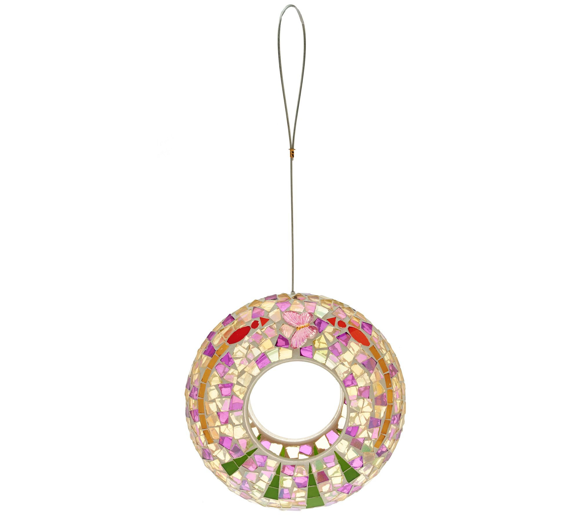 Mosiac Round Birdfeeder by Evergreen