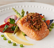 Great Gourmet (8) 5-oz Salmon with Pecan and Pistachio Honey Butter - M57826
