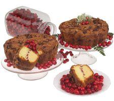 "My Grandma's (2) 8"" Cape Cod Cranberry Coffee Cakes"