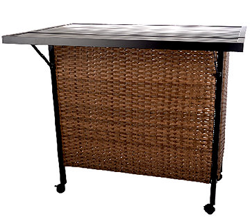 ATLeisure Wicker Resin Entertainment Center with Expandable Top - M46527