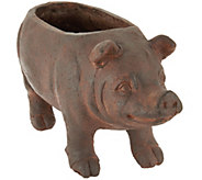 Brown Resin Piggy Planter - M51627