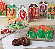 Ships 12/4 Cheryls 36 Holiday Cookies w/ 12 Village Bags - M54927