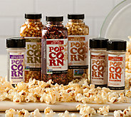 Urban Accents (3) Jars of Popcorn Kernels with (3) Seasonings - M47228