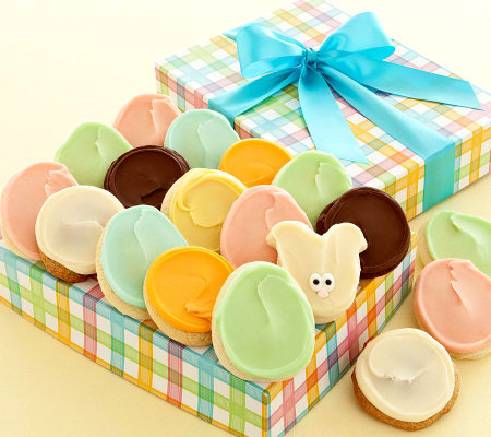 Cheryl's Easter Cookie Gift Box - 24 Frosted Cookies ... Cheryls